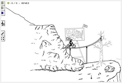 Canvas Rider HTML5网页游戏