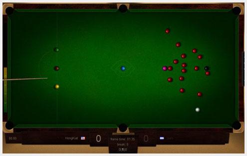 Web Snooker HTML5网页游戏